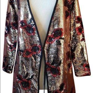Zara Dresses - ZARA Sequin floral crossover wrap dress